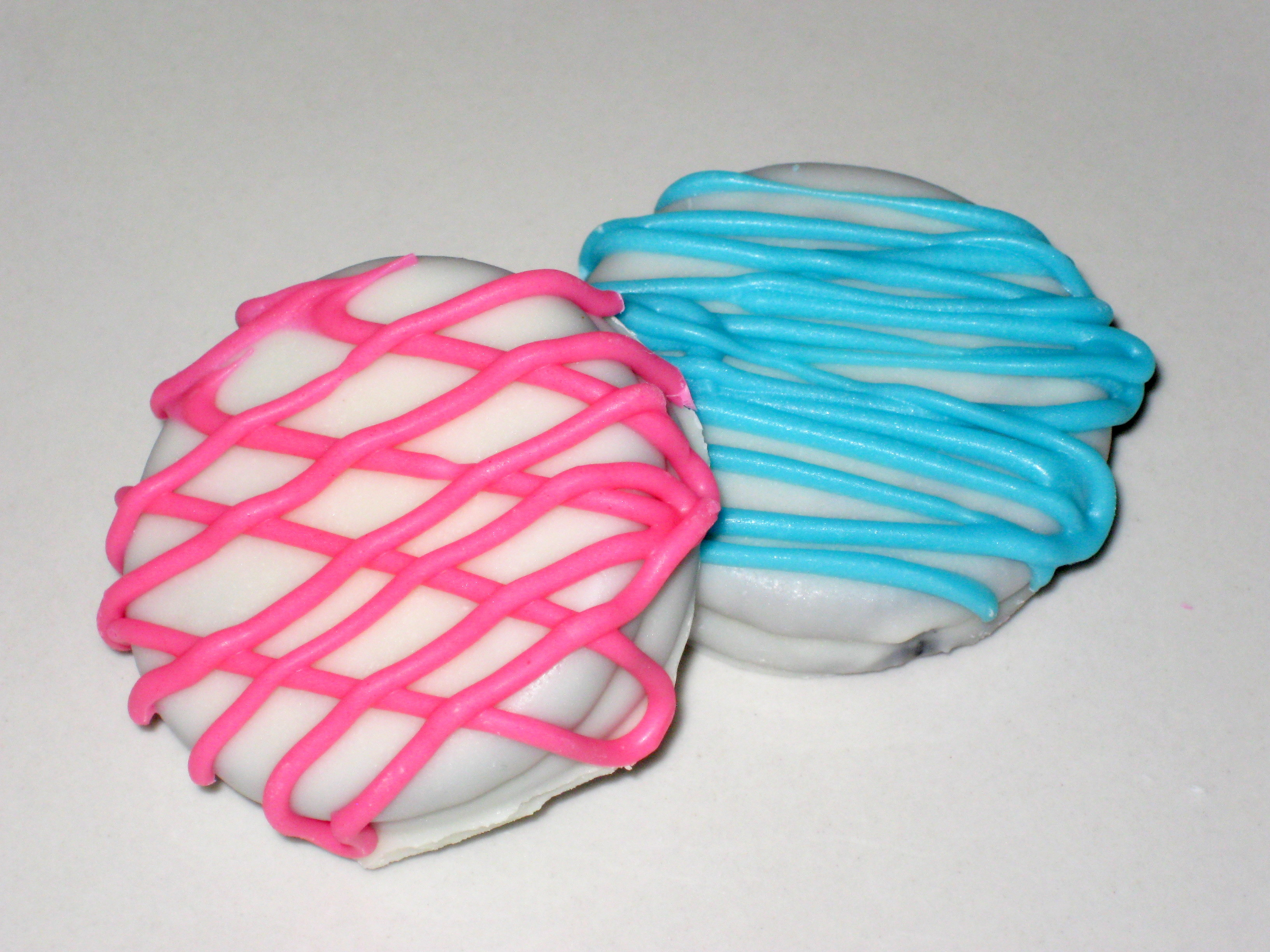Baby Oreos - 1 Dozen (12) Drizzled Dipped Cookies Pink Blue Baby ...